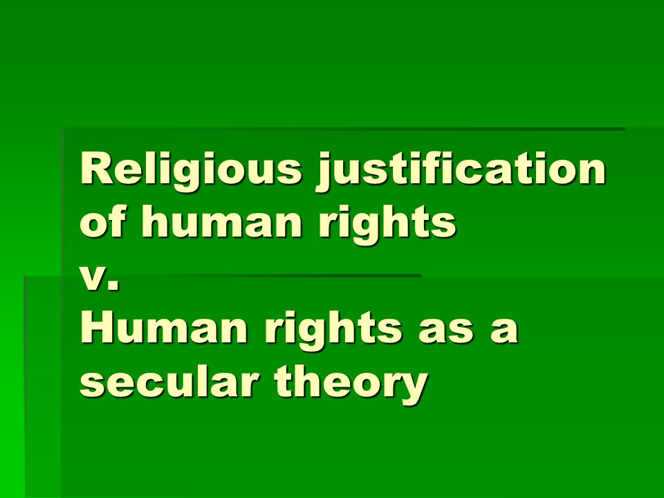 Religious justification of human rights v