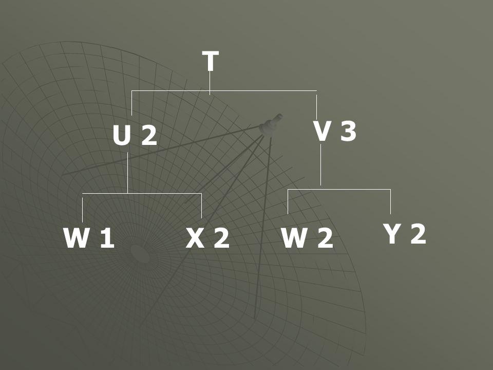 T V 3 U 2 Y 2 W 1 X 2 W 2