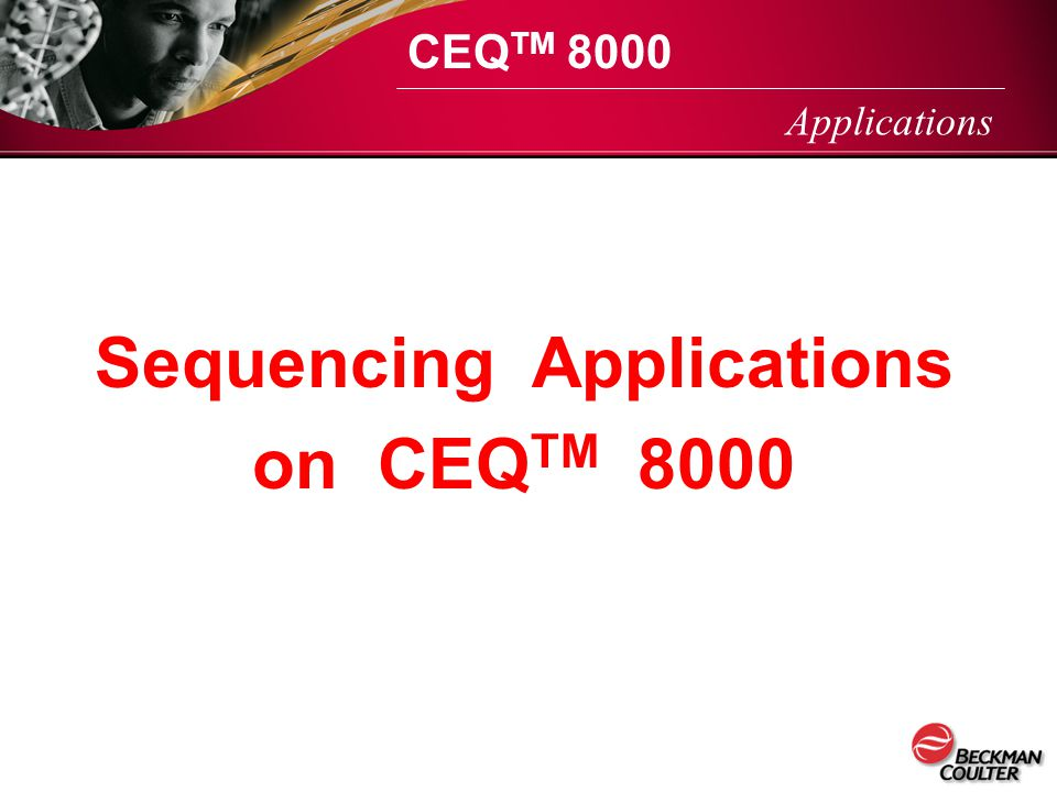 Sequencing Applications