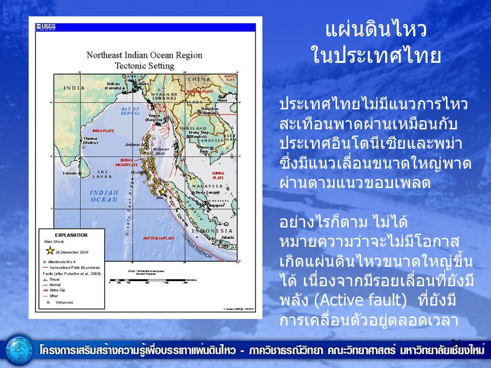แผ่นดินไหว ในประเทศไทย