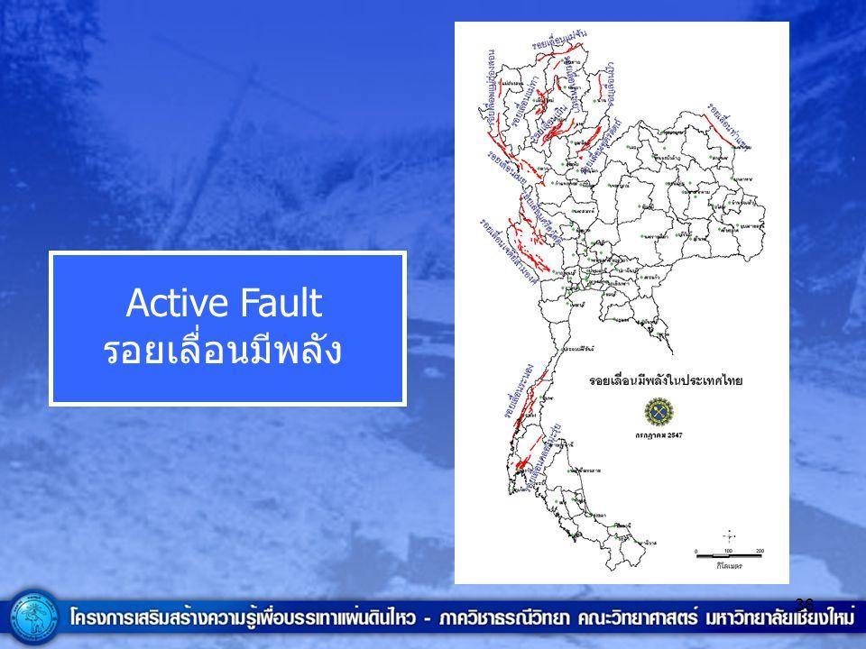 Active Fault รอยเลื่อนมีพลัง