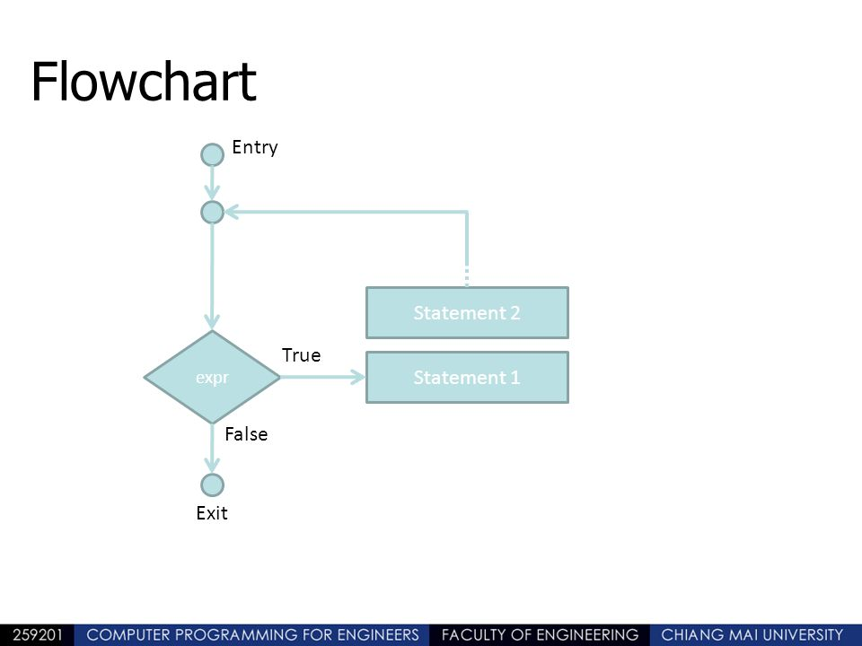 Flowchart Entry Statement 2 True Statement 1 False Exit expr