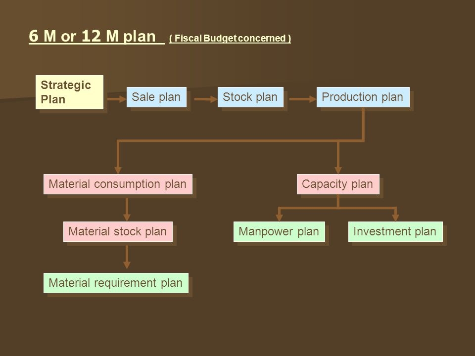 6 M or 12 M plan ( Fiscal Budget concerned )