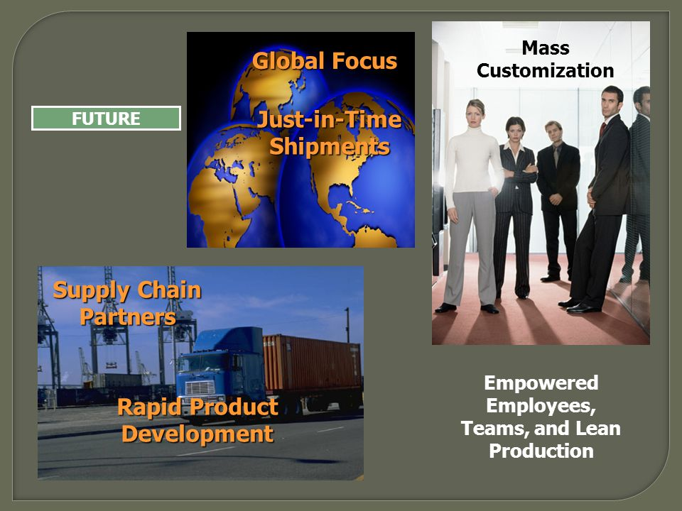 Global Focus Just-in-Time Shipments Supply Chain Partners