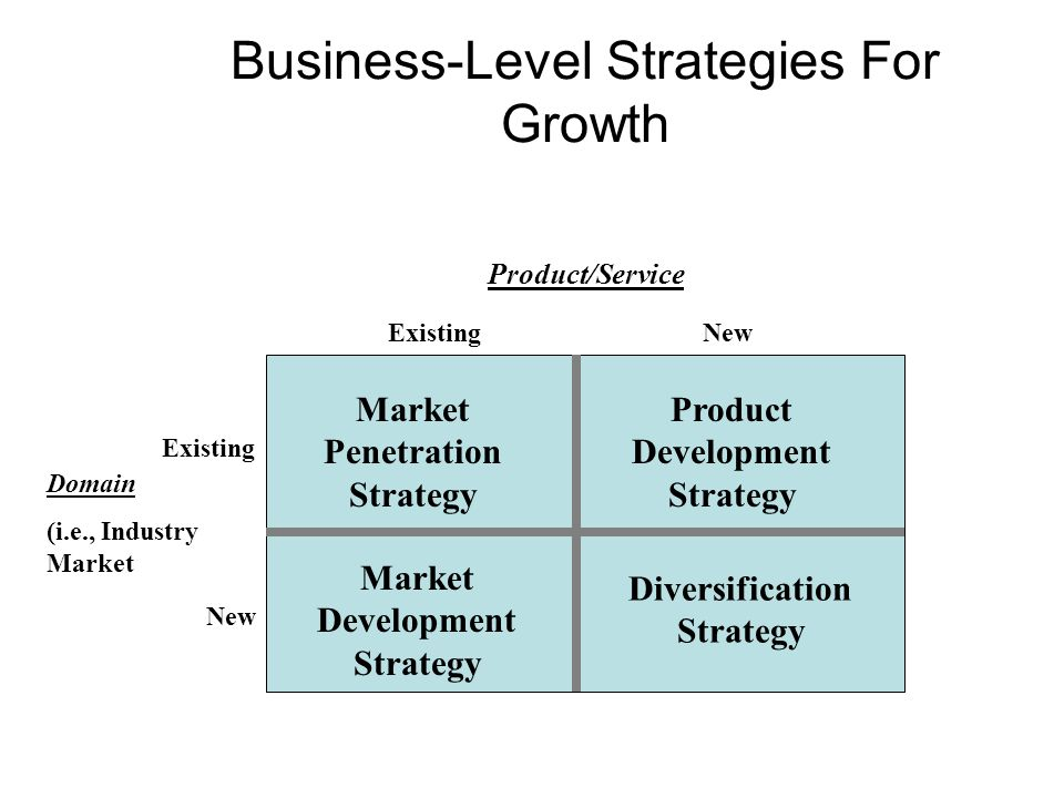 Business-Level Strategies For Growth