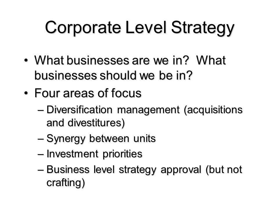 what business level strategy did sony corporation adopt 1 concept of corporate strategy business corporation are under great pressure and are trying to find business and functional -level strategies in terms of.