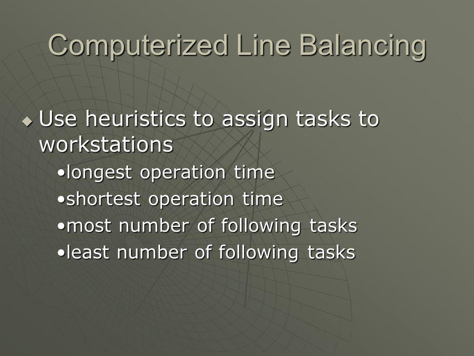Computerized Line Balancing