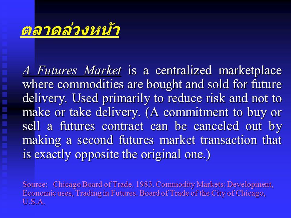 ตลาดล่วงหน้า