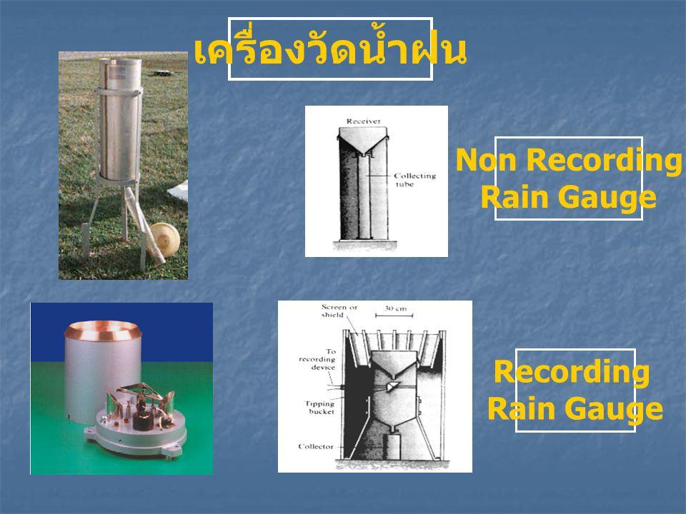 เครื่องวัดน้ำฝน Non Recording Rain Gauge Recording Rain Gauge