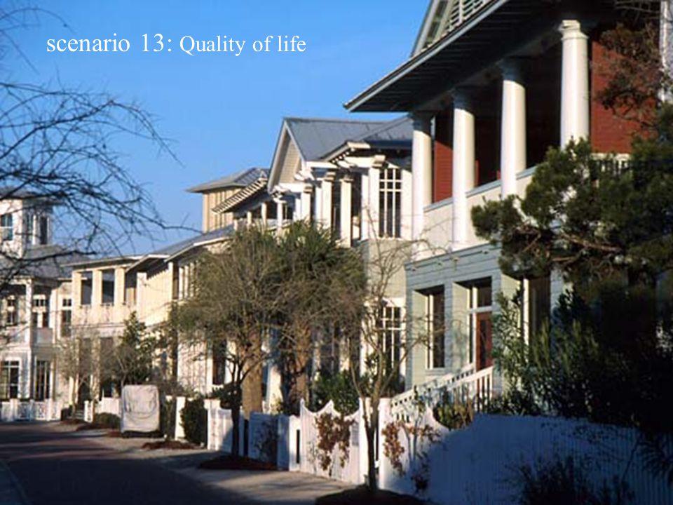 scenario 13: Quality of life