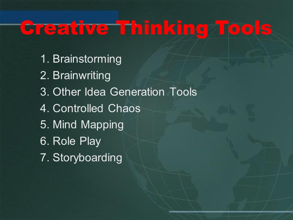 Creative Thinking Tools