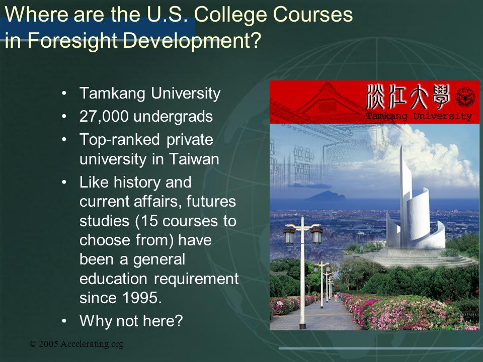 Where are the U.S. College Courses in Foresight Development
