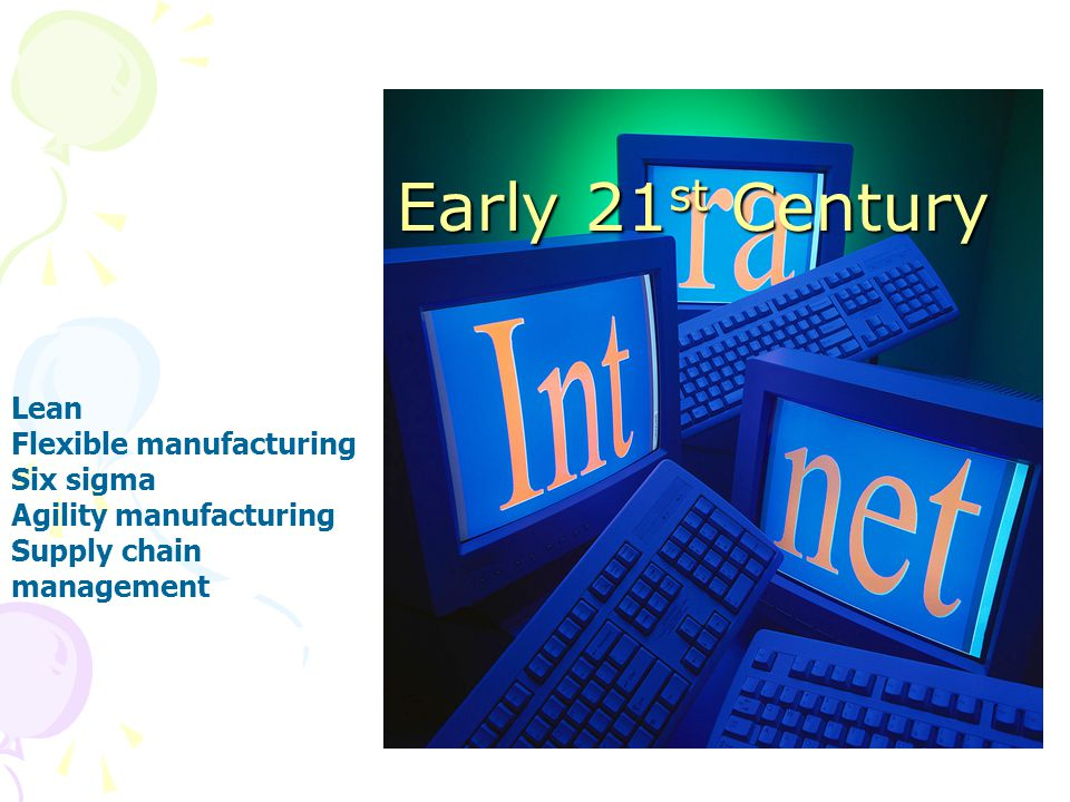 Early 21st Century Lean Flexible manufacturing Six sigma