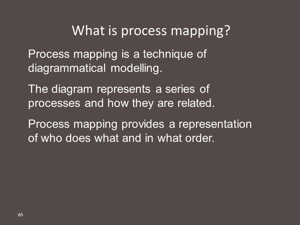 What is process mapping