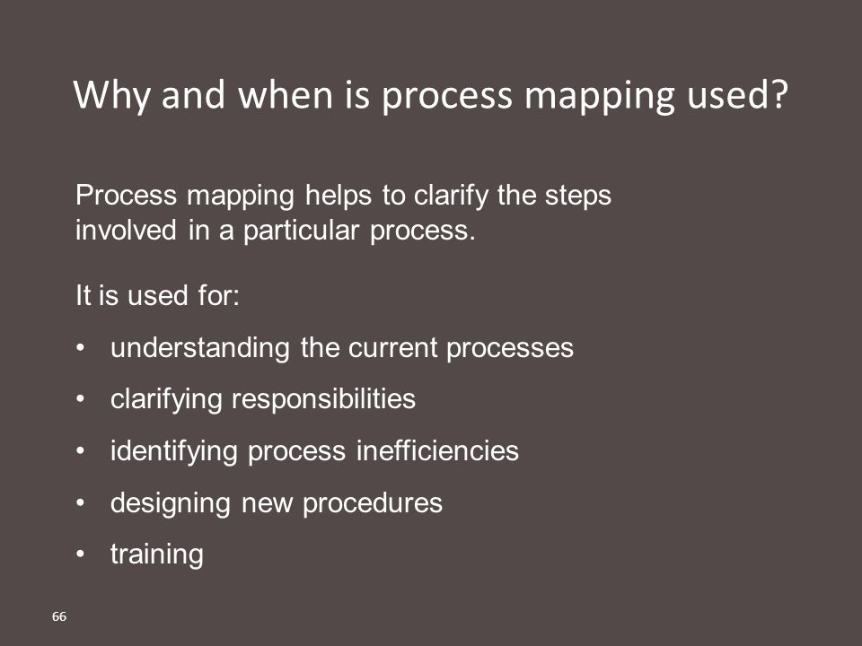 Why and when is process mapping used
