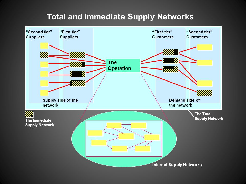 Total and Immediate Supply Networks