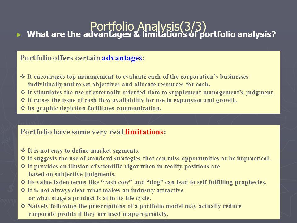 Portfolio Analysis(3/3)