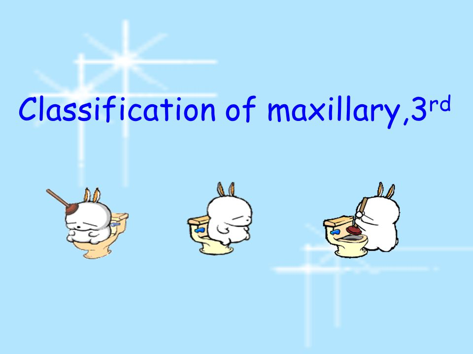 Classification of maxillary,3rd