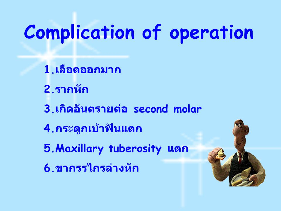 Complication of operation