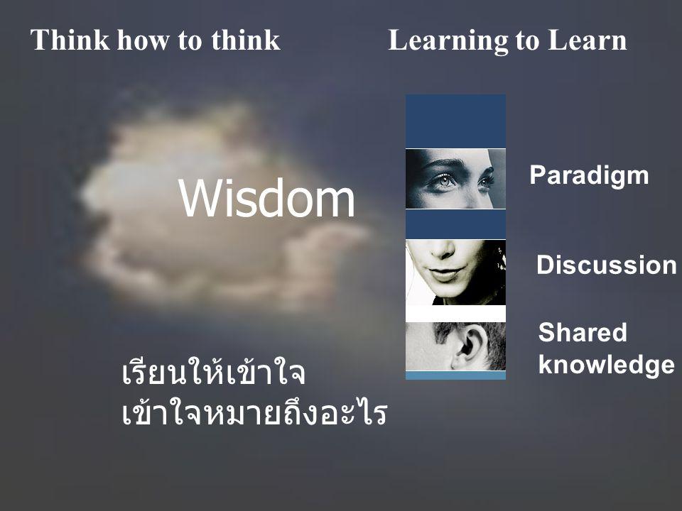 Wisdom เรียนให้เข้าใจ เข้าใจหมายถึงอะไร Think how to think