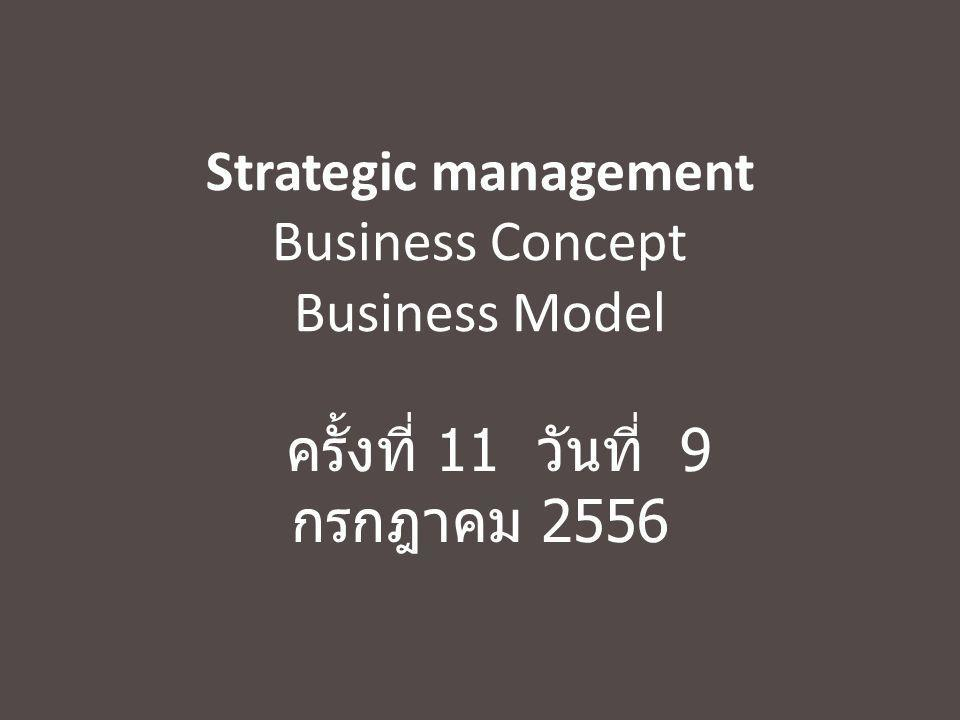 Strategic management Business Concept Business Model