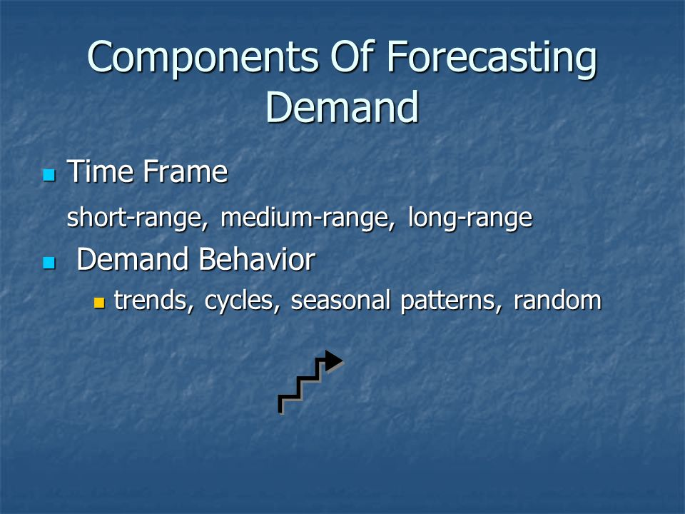 Components Of Forecasting Demand