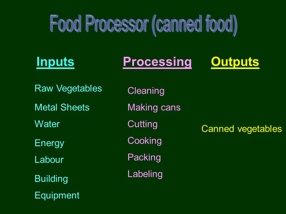 Food Processor (canned food)