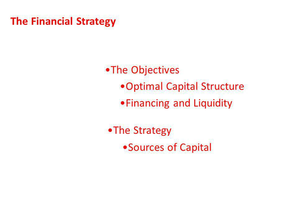 The Financial Strategy