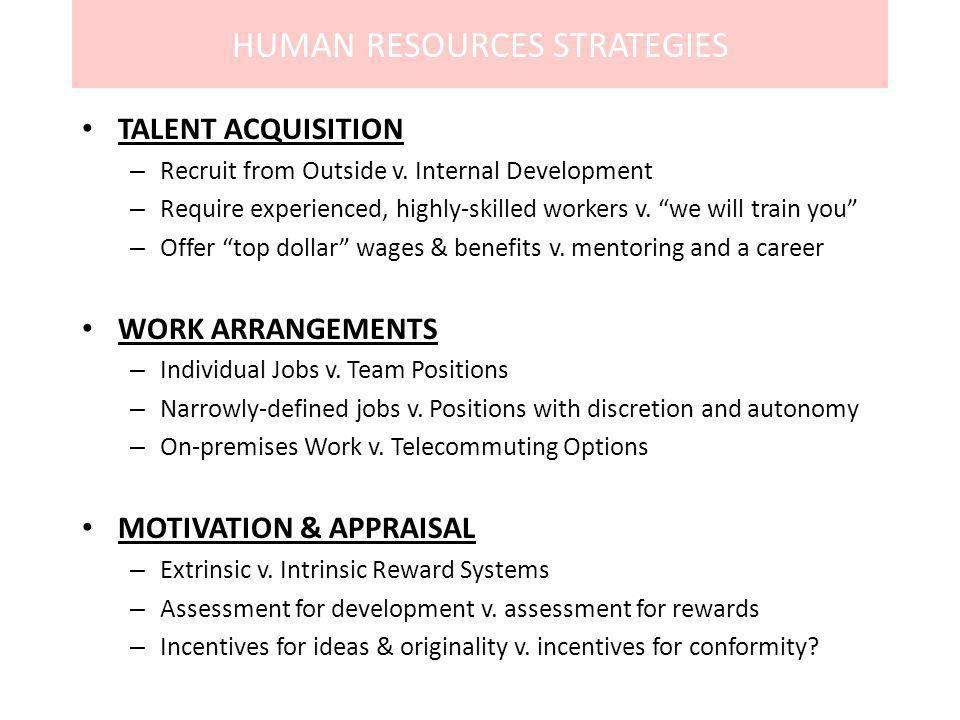 HUMAN RESOURCES STRATEGIES