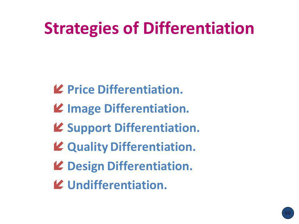 Strategies of Differentiation