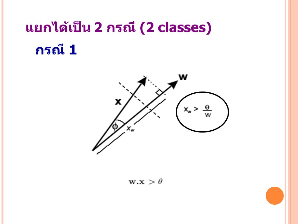 แยกได้เป็น 2 กรณี (2 classes)