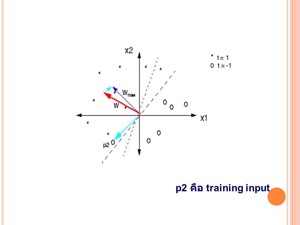 p2 คือ training input