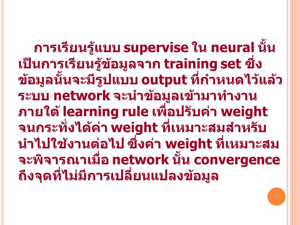 การเรียนรู้แบบ supervise ใน neural นั้น