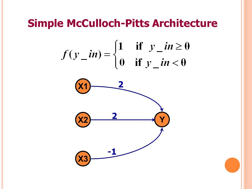 Simple McCulloch-Pitts Architecture