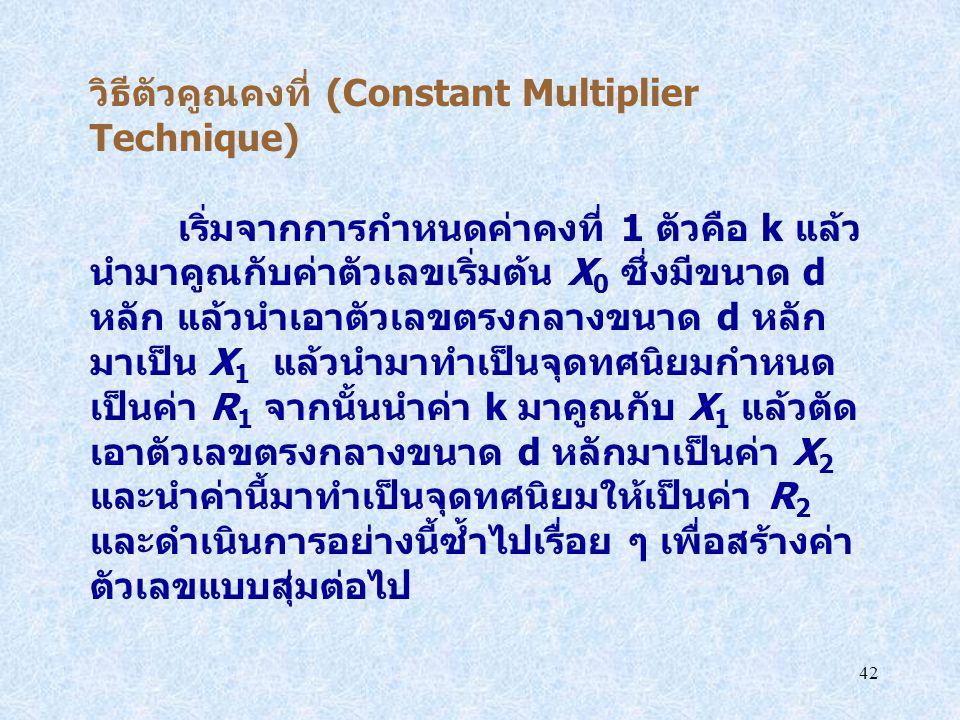 วิธีตัวคูณคงที่ (Constant Multiplier Technique)