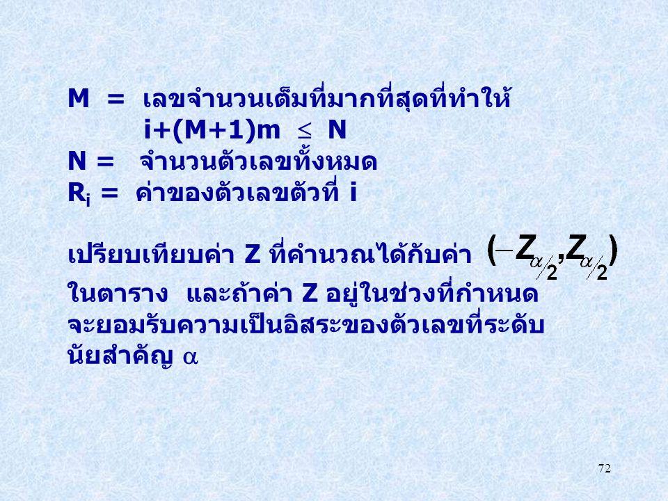 M = เลขจำนวนเต็มที่มากที่สุดที่ทำให้