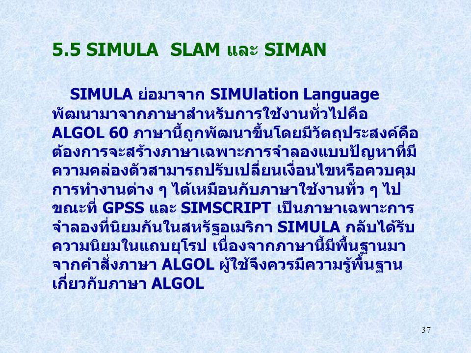5.5 SIMULA SLAM และ SIMAN