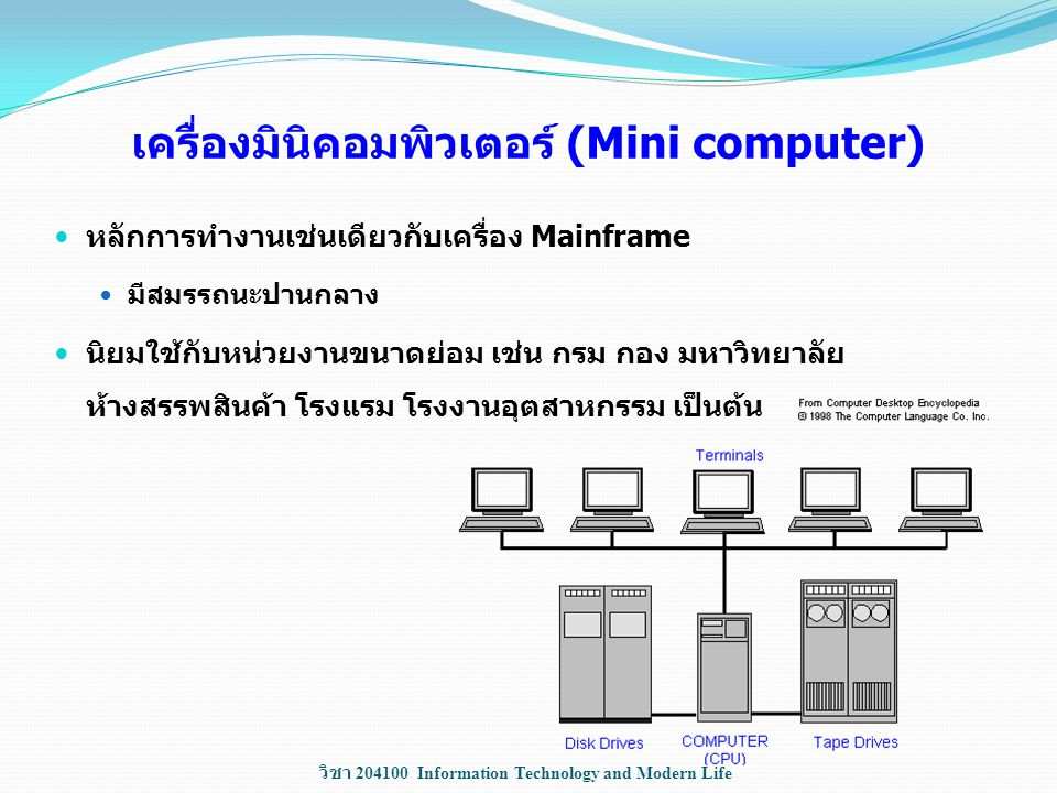 เครื่องมินิคอมพิวเตอร์ (Mini computer)