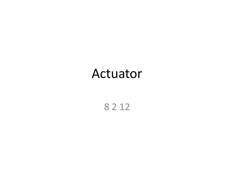 Actuator 8 2 12