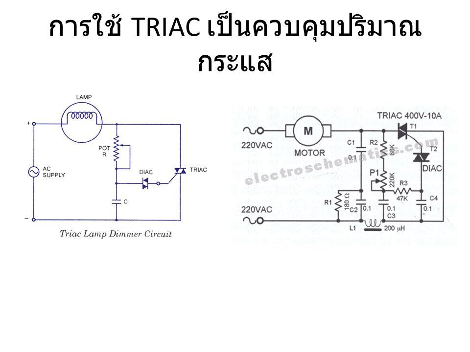 การใช้ TRIAC เป็นควบคุมปริมาณกระแส