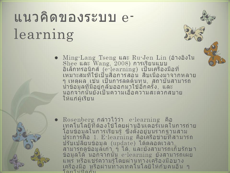 แนวคิดของระบบ e-learning