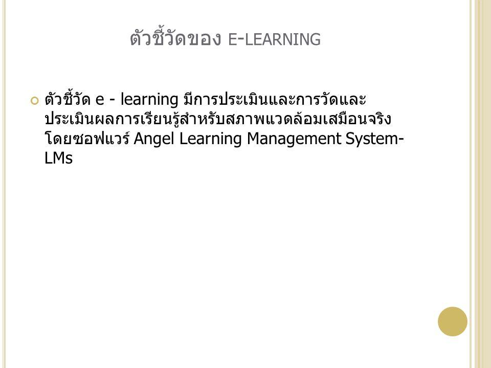 ตัวชี้วัดของ e-learning