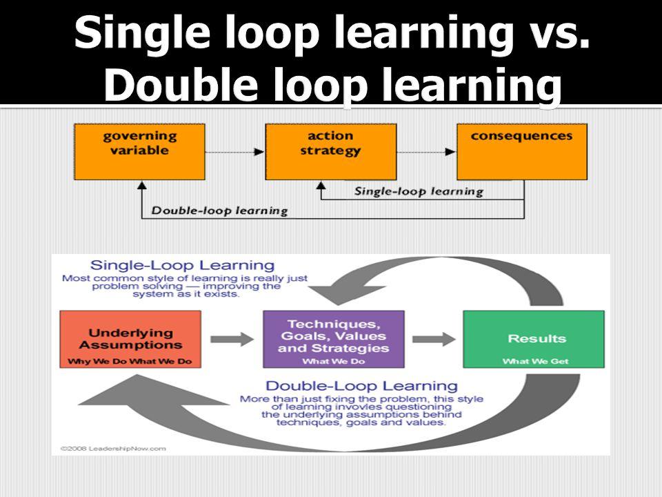 Single loop learning vs. Double loop learning