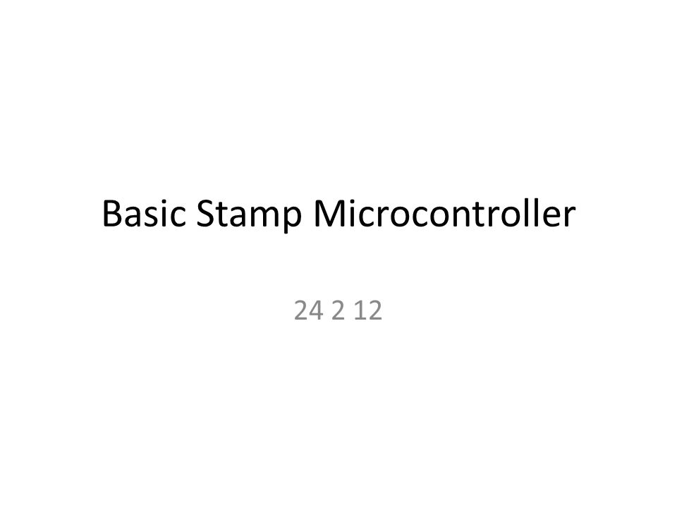 Basic Stamp Microcontroller