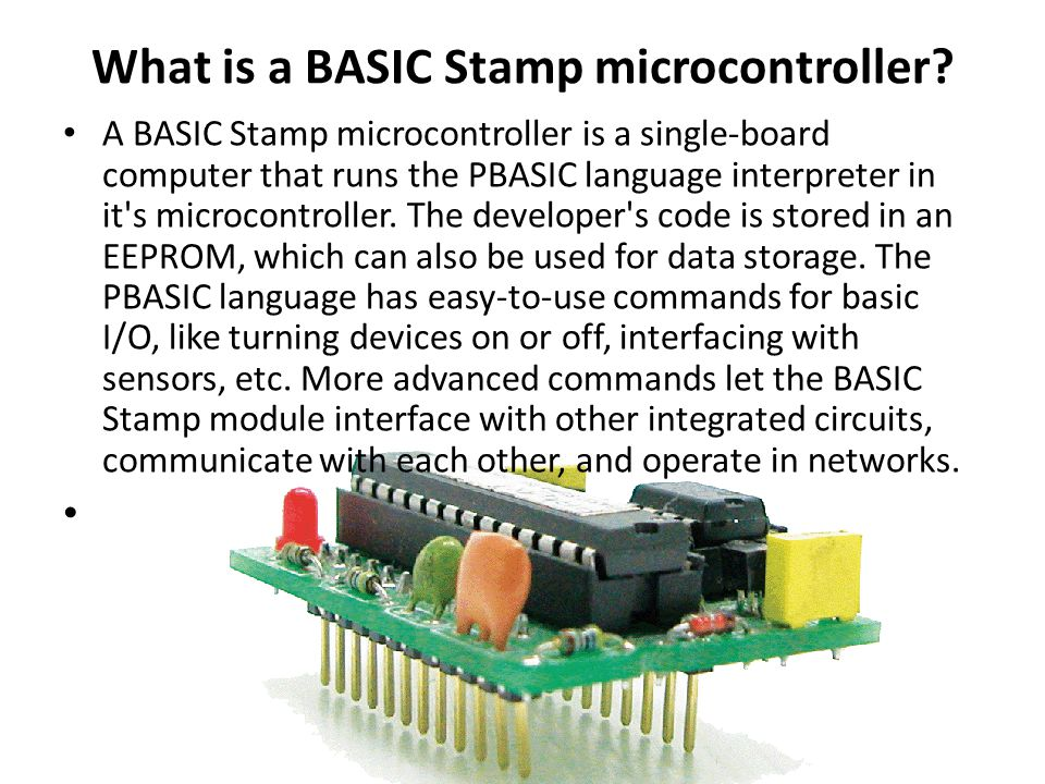What is a BASIC Stamp microcontroller