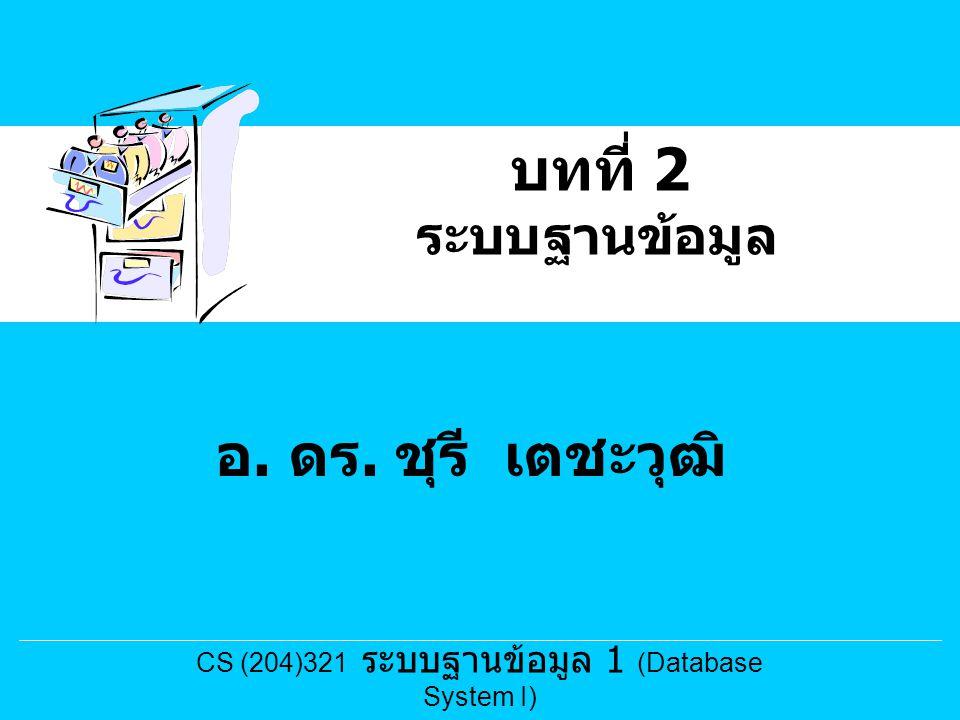 CS (204)321 ระบบฐานข้อมูล 1 (Database System I)