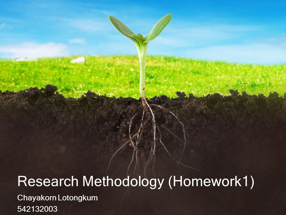 Research Methodology (Homework1)