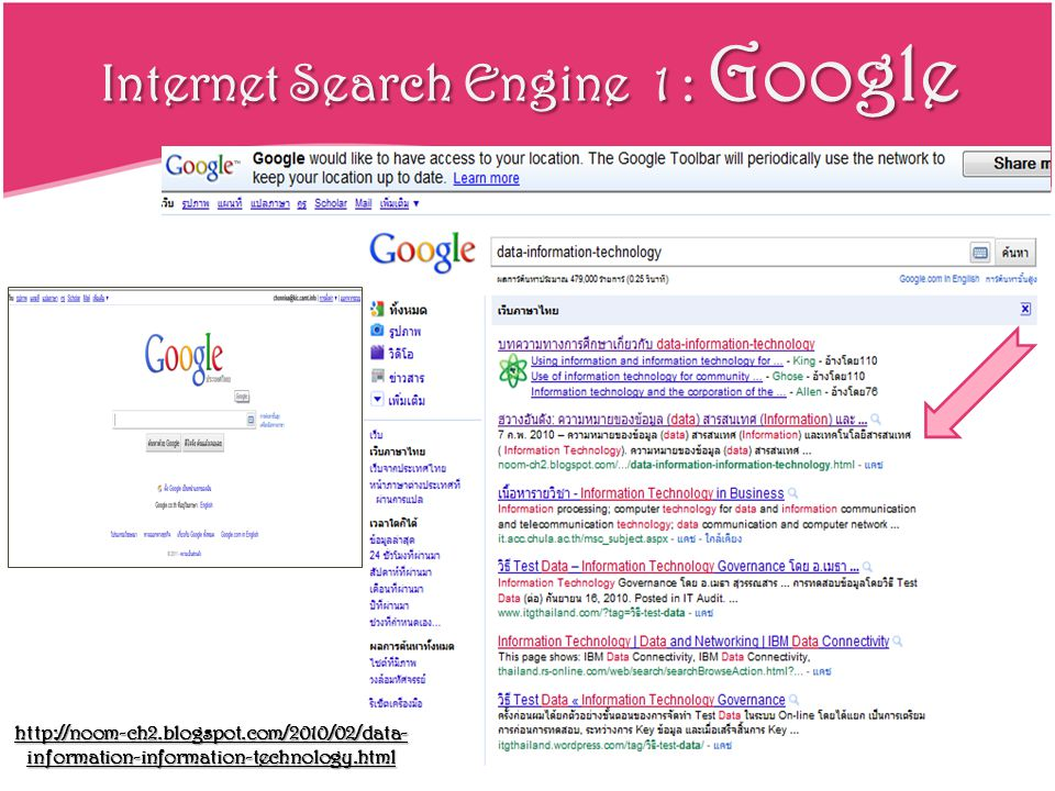Internet Search Engine 1 : Google