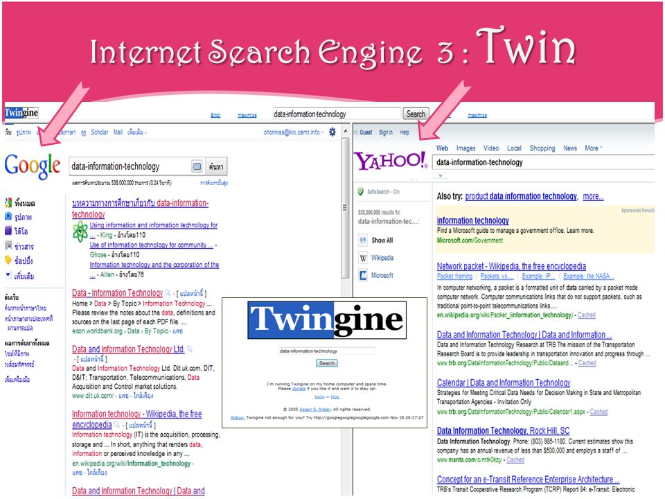Internet Search Engine 3 : Twin