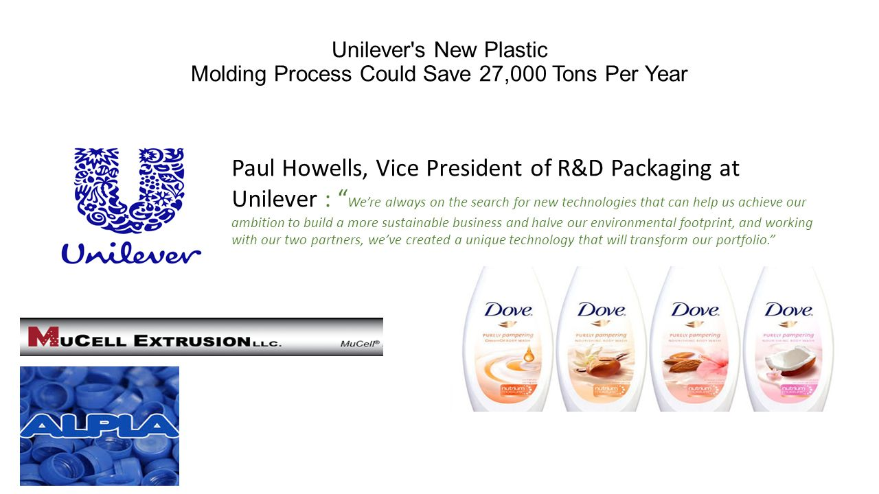 Unilever s New Plastic Molding Process Could Save 27,000 Tons Per Year